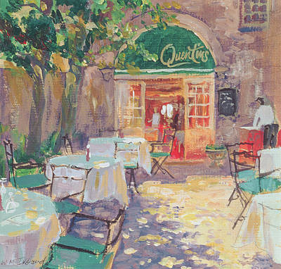 Empty Chairs Painting - Quentins by William Ireland
