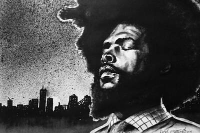Painting - Questlove. by Darryl Matthews
