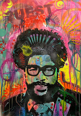 Painting - Questlove by Dean Russo Art