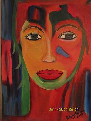 Carita Painting - Quetzal  by Adaly Chacon