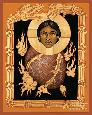 Painting - Quetzalcoatl Christ - Rlqzc by Br Robert Lentz OFM
