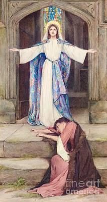 Jesus Painting - Quia Multum Amavit by MotionAge Designs