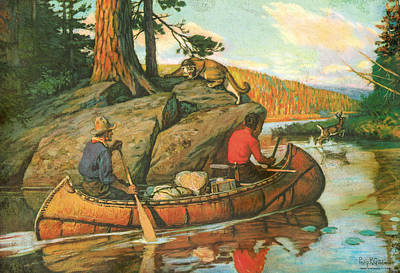 Canoes Painting - Quick Action by JQ Licensing