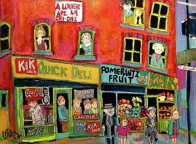 Painting - Quick Delicatessen 200 St. Viateur 1970's by Michael Litvack