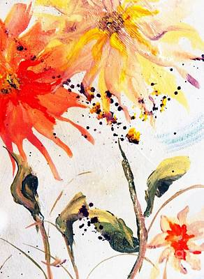 Painting - Quick Easy Fix Artsy Floral by Lisa Kaiser