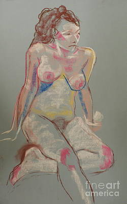 Drawing - Quick Pastel Nude by Joanne Claxton