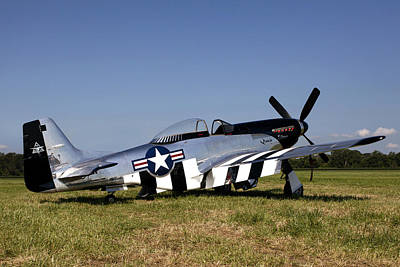 P-51 Mustang Photograph - Quick Silver Geneseo by Peter Chilelli