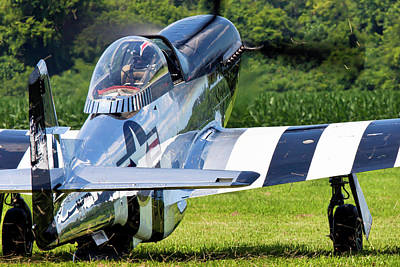 P-51 Mustang Photograph - Quick Silver Landscaping by Peter Chilelli