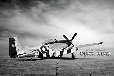 Scooter Digital Art - Quick Silver P-51 by Peter Chilelli
