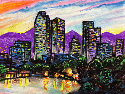 Art Print featuring the painting Quick Sketch - Denver by Aaron Spong