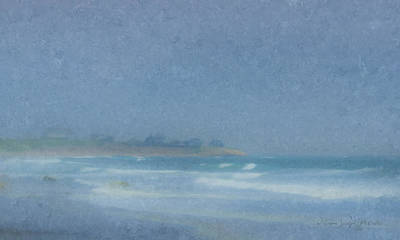 Mcentee Painting - Foggy Afternoon At Little Compton Ri by Bill McEntee