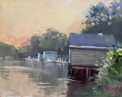 Waterscape Painting - Quiet Again by Ylli Haruni