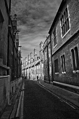 Photograph - Quiet Alley Cambridge Uk by Morgan Wright