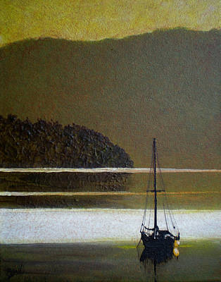 Quiet Anchor Art Print by Bill Brown