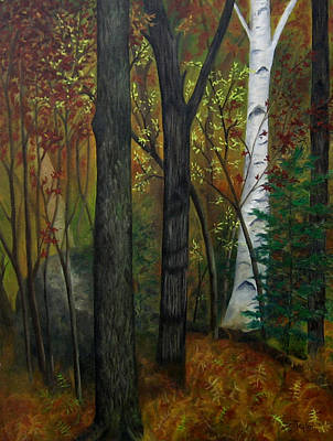 Painting - Quiet Autumn Woods by FT McKinstry