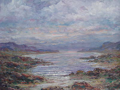Painting - Quiet Bay. by Leonard Holland