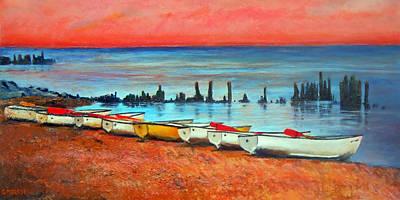 Quiet Beach Art Print