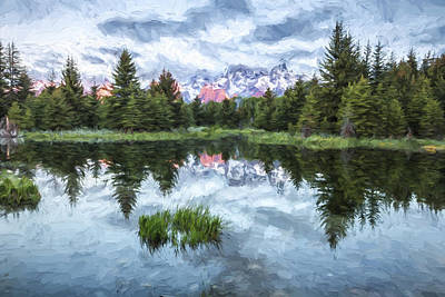 Mountains Digital Art - Quiet Beginnings II by Jon Glaser