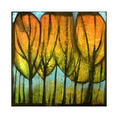 Orange Painting - Quiet Blaze by Tim Nyberg