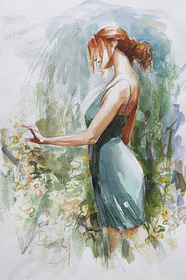 Bouquets Painting - Quiet Contemplation by Steve Henderson