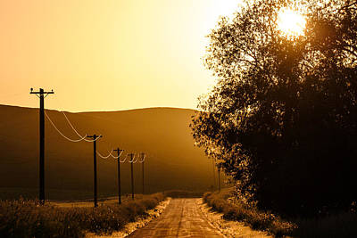 Telephone Poles Photograph - Quiet Country Road by Todd Klassy
