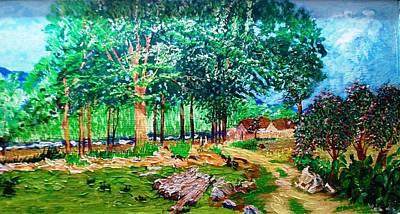 Quiet Countryside Art Print by Narayan Iyer