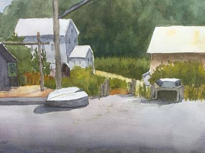 Painting - Quiet Day At The Boat Yeard  by Peggy Poppe