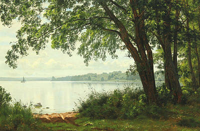 Painting - Quiet Day At The Northern Part Of Lake Esrum by Vilhelm Groth