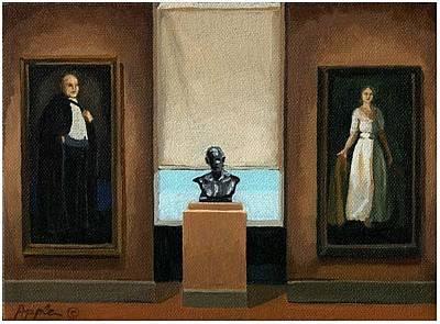 Museum Painting - Quiet Elegance - Art Museum by Linda Apple