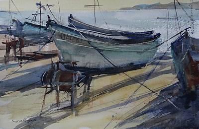 Painting - Quiet Evening In Pomorie by Sandra Strohschein