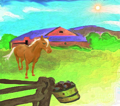 Painting - Quiet Farm Lifestyle by Belinda Threeths