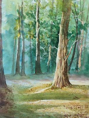 Painting - Quiet Forest by Yohana Knobloch
