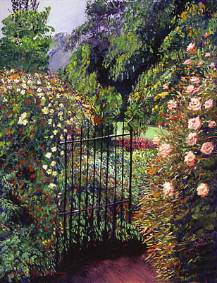 Quiet Garden Entrance Art Print by David Lloyd Glover