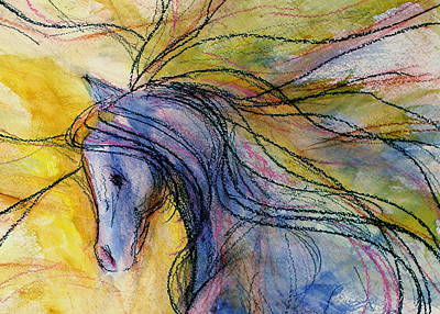 Sporthorse Mixed Media - Quiet Girl by Jennifer Fosgate