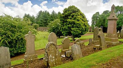 Photograph - Quiet Graveyard In Summer Day. by Elena Perelman