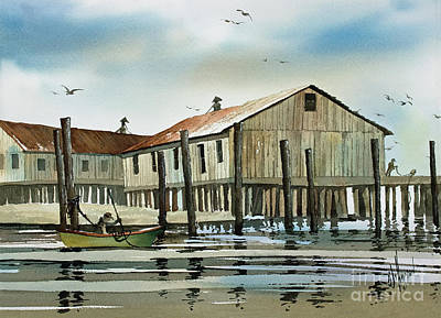 Painting - Quiet Harbor by James Williamson