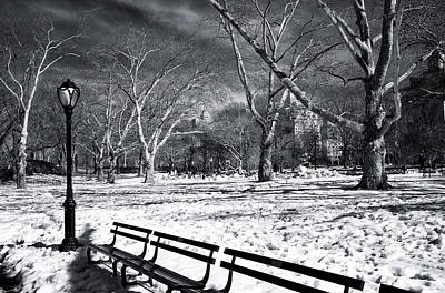 Photograph - Quiet Winter At Central Park by John Rizzuto