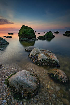 Quiet Long Island Sound Art Print by Rick Berk