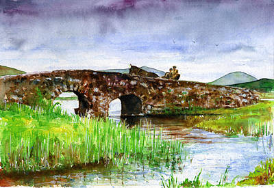 Painting - Quiet Man Bridge Ireland by John D Benson