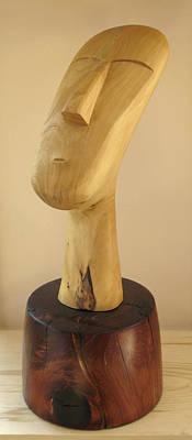 Sculpture - Quiet Man by Windy Dankoff