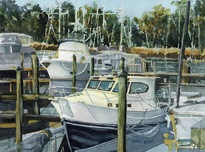 Painting - Quiet Marina by Dick Dee