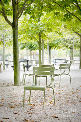 Quiet Moment At Jardin Luxembourg Art Print