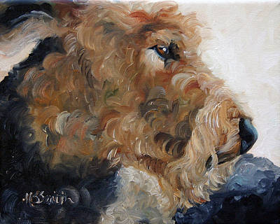 Puppies Painting - Quiet Moment by Mary Sparrow