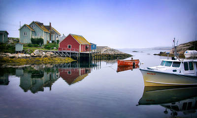 Photograph - Quiet Morning In Peggys Cove by Carolyn Derstine
