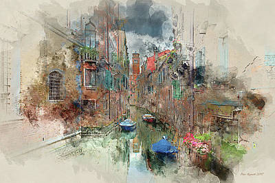 Digital Art - Quiet Morning In Venice by Peter Kennett