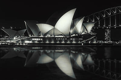 Photograph - Quiet Night At Sydney Opera House  by Daniela Constantinescu