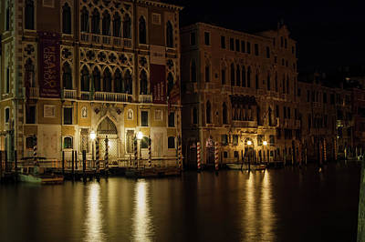 Photograph - Quiet Night On The Grand Canal by Alex Lapidus