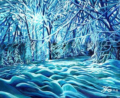 Quiet Of Winter Art Print by Suzanne King