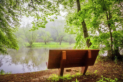 Photograph - Quiet On A Misty Morning by Debra and Dave Vanderlaan