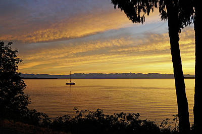 Photograph - Quiet Over Salish Sea by Inge Riis McDonald